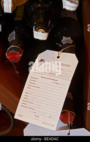bottle with control label and wax seal quinta da gaivosa douro portugal - Stock Photo