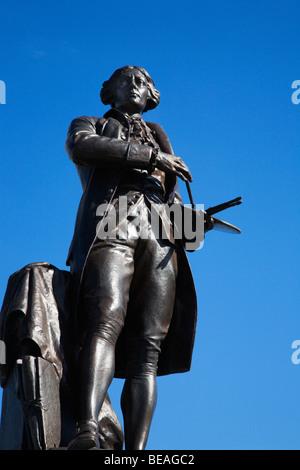 Gainsborough Statue Sudbury Suffolk England - Stock Photo