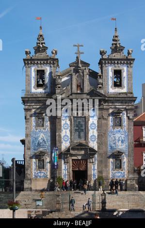 igreja de santo ildefonso church porto portugal - Stock Photo