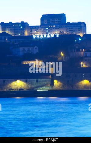graham's port lodge vila nova de gaia porto portugal - Stock Photo
