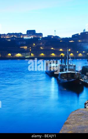 passenger ferry boats graham's port lodge vila nova de gaia porto portugal - Stock Photo