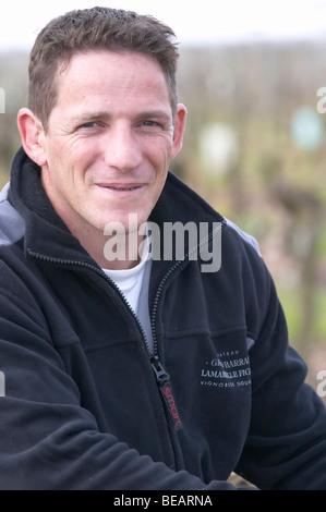 romuald hebrard winemaker ch gd barrail lamarzelle figeac saint emilion bordeaux france - Stock Photo