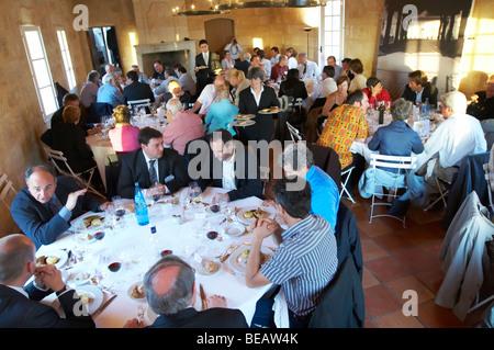 gala dinner at citadelles du vin wine competition bourg bordeaux france - Stock Photo