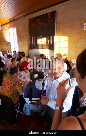 gala dinner at citadelles du vin wine competition bourg bordeaux france - Stock Photo