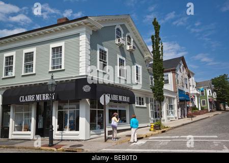 Shopping Street In Newport Rhode Island New England Usa Stock Photo Royalty Free Image