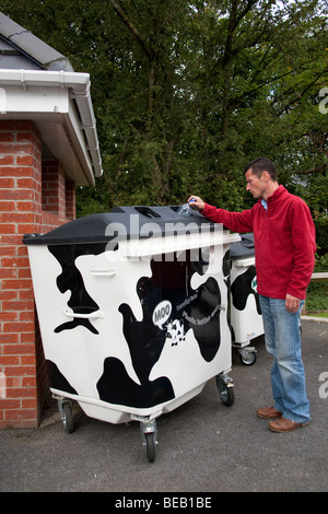 Chorley Council Refuse Collection Bins - Stock Photo