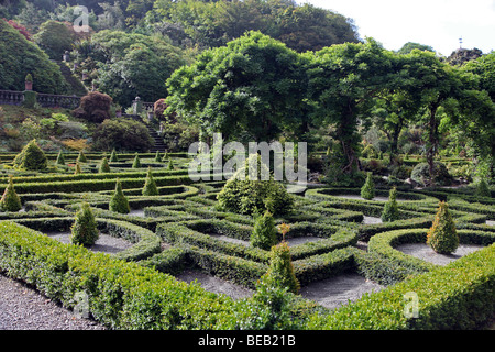 Bantry House Parterre, Bantry Bay, West Cork, Ireland - Stock Photo