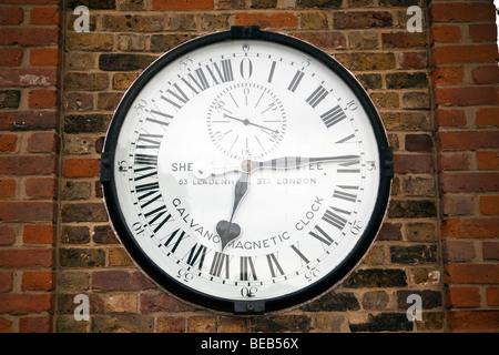 The Shepherd Gate Clock, Royal Greenwich Observatory, London, England, UK - Stock Photo