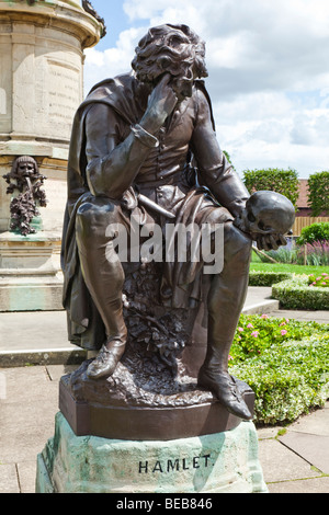 Statue of Hamlet at Stratford upon Avon, Warwickshire - Stock Photo