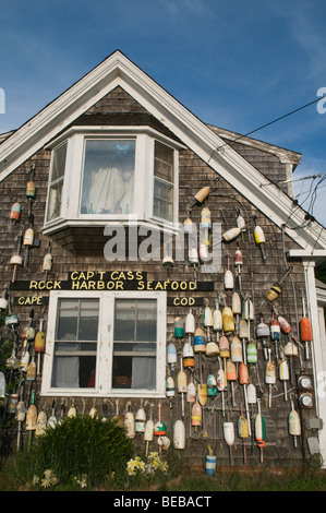 Capt Cass Rock Harbor seafood restaurant, Orleans,  Cape Cod, Massachusetts - Stock Photo