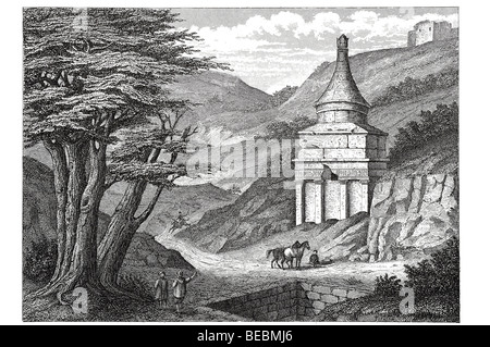 absalom's tomb in the valley of josaphat near jerusalem - Stock Photo