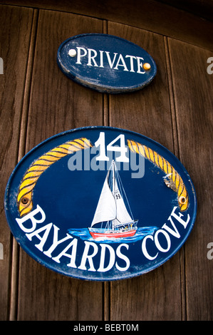 Door number of cottage in Dartmouth, Devon, UK - Stock Photo
