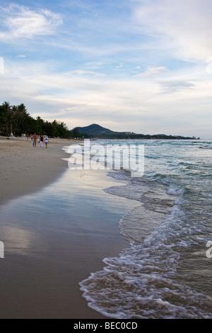 Chaweng Beach on Koh Samui, Thailand - Stock Photo