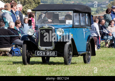 Vintage car display at Wensleydale Agrcultural Show held early September near Leyburn, North Yorkshire - Stock Photo