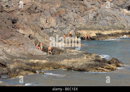 Cliffs on Punta de Teno, Canary Island Tenerife, Spain - Stock Photo
