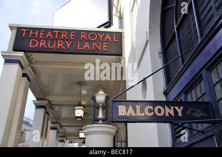 Theatre Royal Drury Lane, Covent Garden, City of Westminster, London, England, United Kingdom - Stock Photo