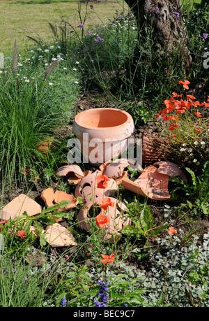 Gartendekoration, Arboretum, Ellerhoop, Deutschland. - Garden