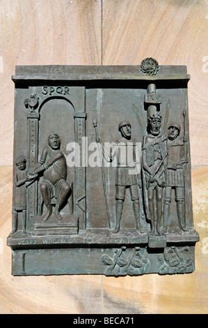 Cloister, crucifixion of Jesus, Stations of the Cross, Christian representation, Collegiate Church of St. Felicitas, - Stock Photo