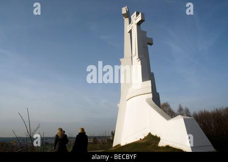 Three Crosses Hill, Vilnius, Lithuania. - Stock Photo