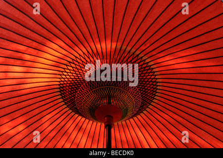 Underside of a Japanese parasol, Japan, Asia - Stock Photo