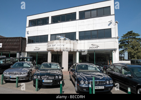 The Guy Salmon (Jaguar Cars Ltd) dealership in Ascot, Berkshire, UK. - Stock Photo