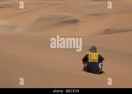 Sand dunes near Swakopmund, Namib Desert, Namibia, Africa - Stock Photo