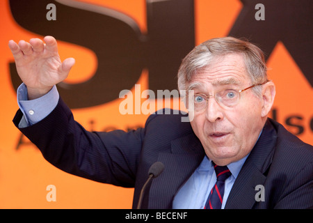 Erich Sixt, chief executive and main shareholder of the Sixt AG, during the press conference on financial statements, - Stock Photo