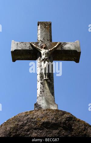 Jesus Christ on a cross - Stock Photo