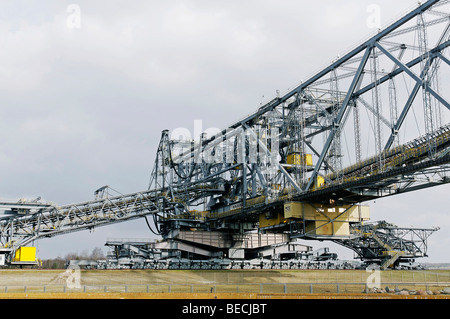 Overburden conveyor bridge in the museum mine F60, Energie-Route Lausitzer Industriekultur, energy route Lausitz - Stock Photo