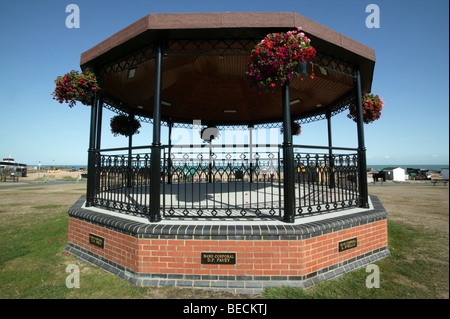 The Deal memorial bandstand dedicated to the memory of 11 Royal Marines bandsmen killed by an IRA bomb in the North - Stock Photo