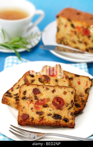 Spiced plum cake. Recipe available. - Stock Photo