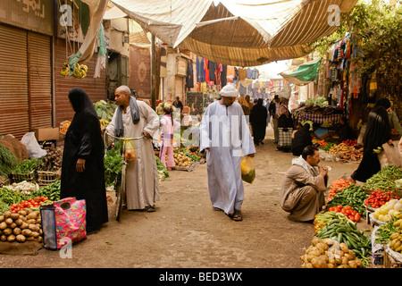Shopping in Luxor, Egypt - Stock Photo