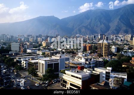 View from Las Mercedes of the El Avila Range, capital city Caracas, Caribbean, Venezuela, South America - Stock Photo