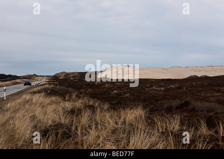 Shifting dunes near List, Sylt Island, North Frisian Islands, Schleswig-Holstein, Germany, Europe - Stock Photo