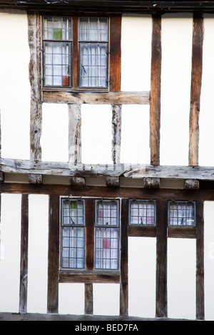 Half Timbered Building Lavenham Suffolk England - Stock Photo