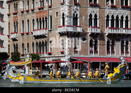 Italy, Venice, historic regatta, boats, people, traditions - Stock Photo