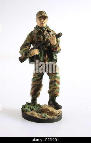An infantry Private from the British Army of the Rhine 1970's. A collectible Franklin Mint soldier - Stock Photo