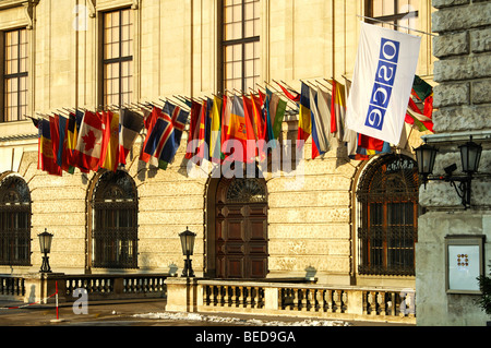 Conference center of the Organization for Security and Cooperation in Europe, OSZE, Hofburg castle Vienna, Austria, - Stock Photo