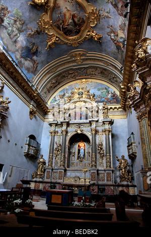 Interior of Chiesa di Santa Maria sopra Minerva in Assisi Italy - Stock Photo