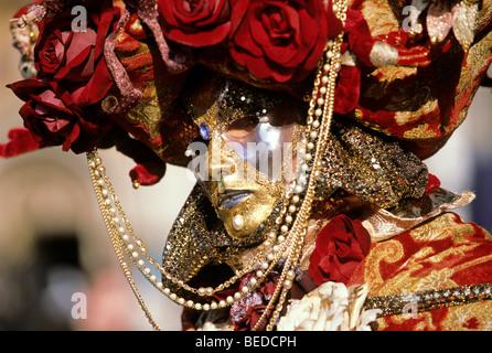 Mask, carnival in Venice, Veneto, Italy, Europe - Stock Photo