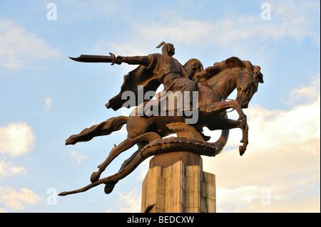 Manas, kyrgyz epic poem hero - Stock Photo