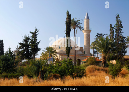 Hala Sultan Tekke Mosque, fourth most important islamic pilgrimage site, Larnaca, Cyprus, Asia - Stock Photo