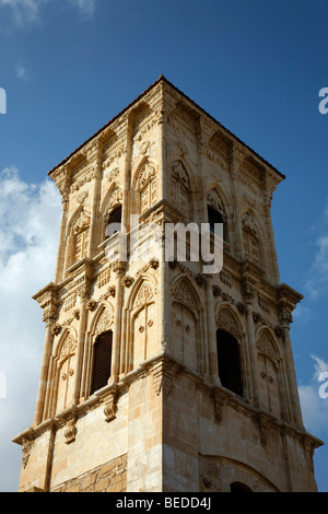 Church tower of the Lazarus Church, Larnaca, Cyprus, Asia - Stock Photo