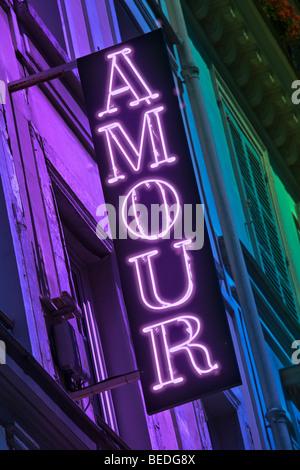 HOTEL AMOUR SIGN, PARIS - Stock Photo