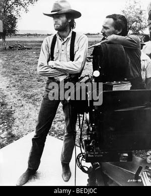Actor Peter Fonda on set of western film - Stock Photo