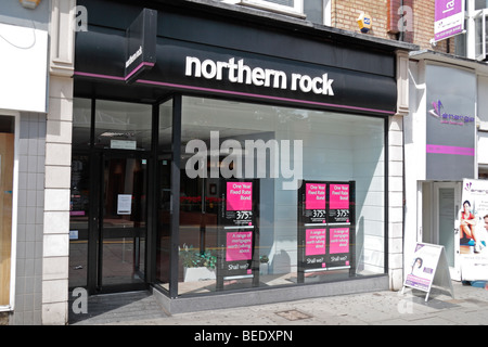 A branch of the Northern Rock Building Society, Station Road, Harrow, UK. August 2009 - Stock Photo