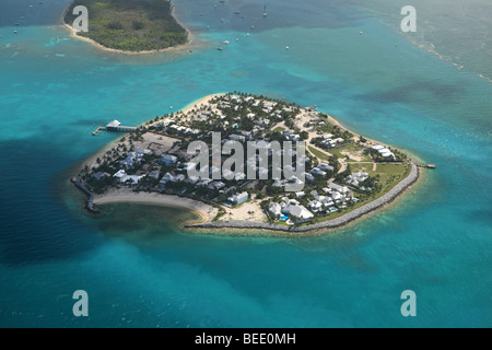 Aerial photo of Sunset Key, Tank Island near Key West, Florida - Stock Photo