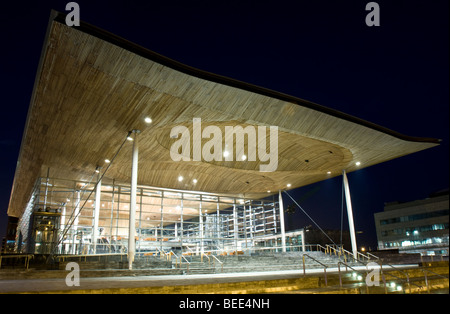 The Senedd - National Assembly for Wales, Cardiff Bay, Wales UK - Stock Photo