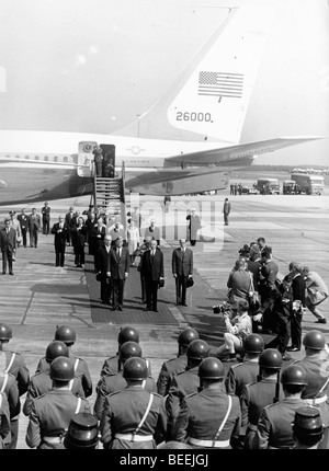 US President John Fitzgerald Kennedy arrives for an official visit to West Germany. - Stock Photo