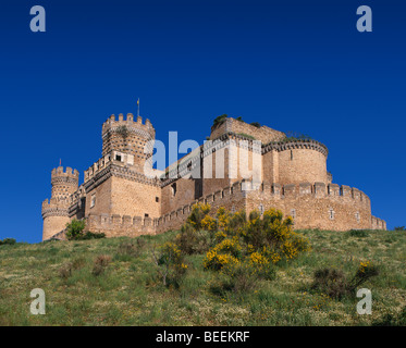 Castle Manzanares el Real Madrid Province Spain - Stock Photo